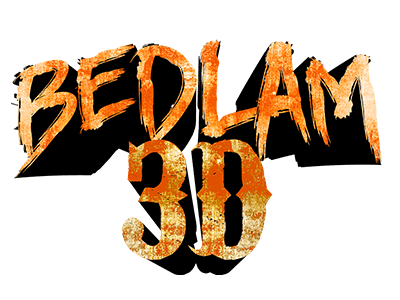 Bedlam 3-D Logo | SCREAM-A-GEDDON | Central Florida Haunted House